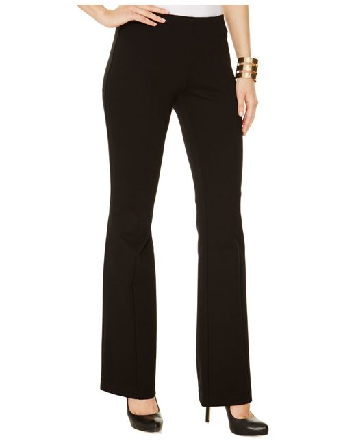 INC International Concepts | Black Curvy-fit Pull-on Bootcut Ponte Pants, Only At Macy's | Lyst