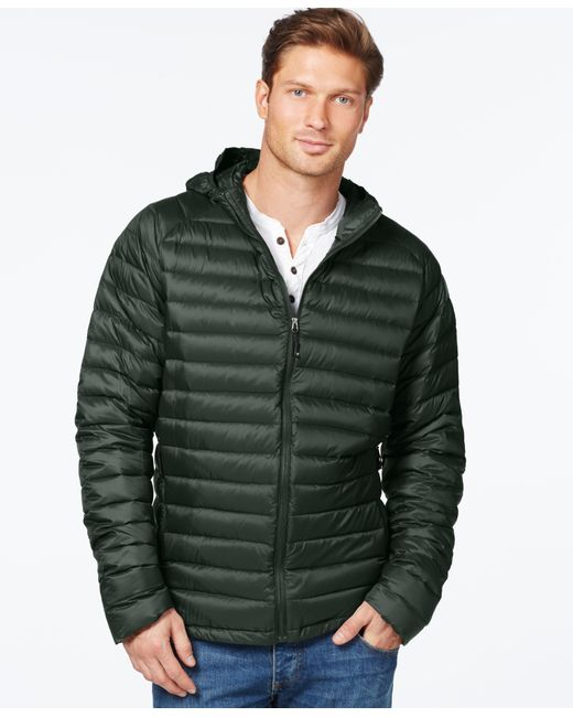 32 Degrees | Green Packable Hooded Down Jacket for Men | Lyst