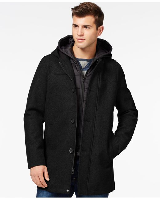 Guess   Black Toggle Jacket With Removable Bib And Hood for Men   Lyst