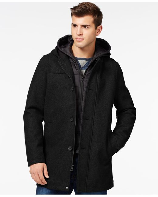 Guess | Black Toggle Jacket With Removable Bib And Hood for Men | Lyst