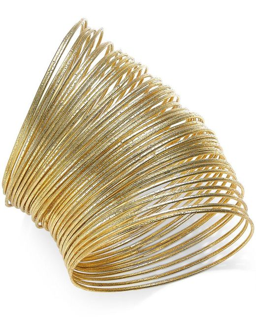 ABS By Allen Schwartz | Metallic Gold-tone Bangle Bracelet Set | Lyst