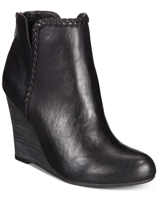 Report | Black Rosemary Wedge Booties | Lyst