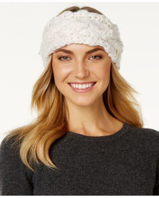 Betsey Johnson | White Pearly Girl Headband | Lyst