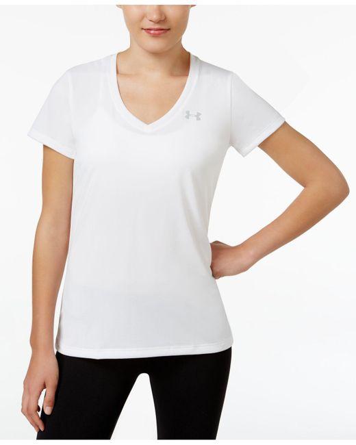 Under Armour | White Ua Techtm Short-sleeve Logo Tee | Lyst