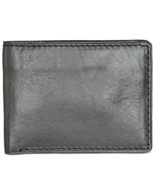 Patricia Nash | Black Men's Heritage Leather Double Billfold Id Wallet | Lyst