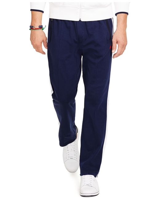 Polo Ralph Lauren | Blue Men's Interlock Track Pants for Men | Lyst