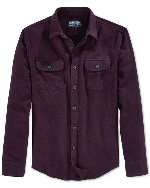 American Rag | Red Men's Long-sleeve Flannel Shirt, Only At Macy's for Men | Lyst