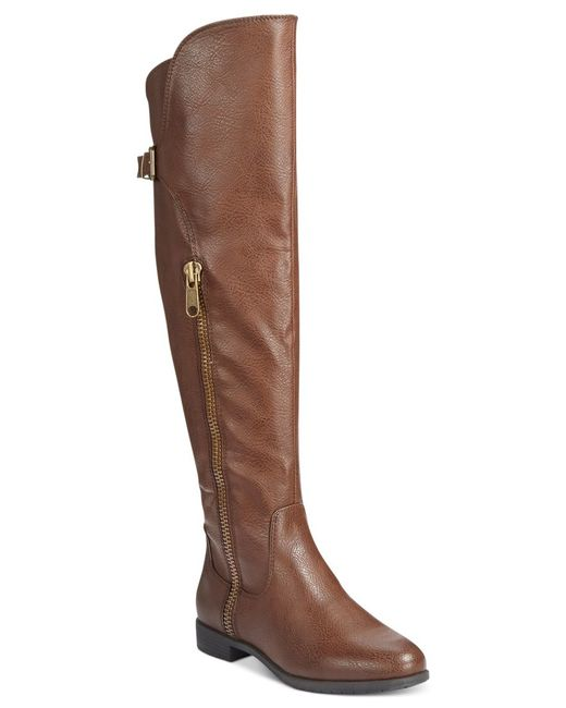 Rialto | Brown First Row Casual Over The Knee Boots | Lyst