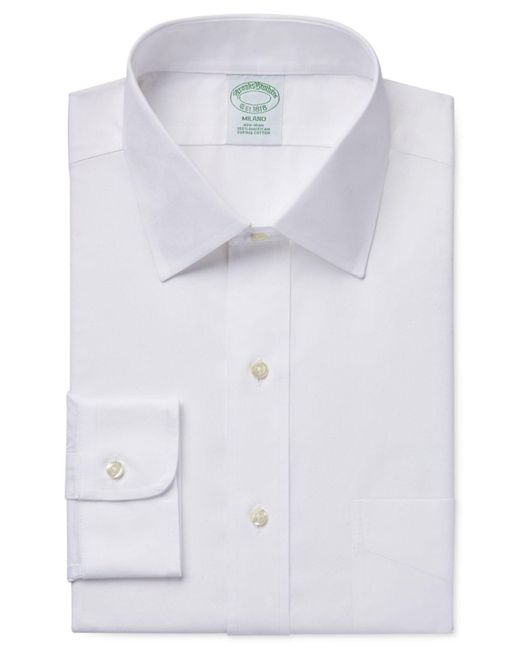 Brooks Brothers | White Extra Slim-fit Non-iron Pinpoint Solid Dress Shirt for Men | Lyst