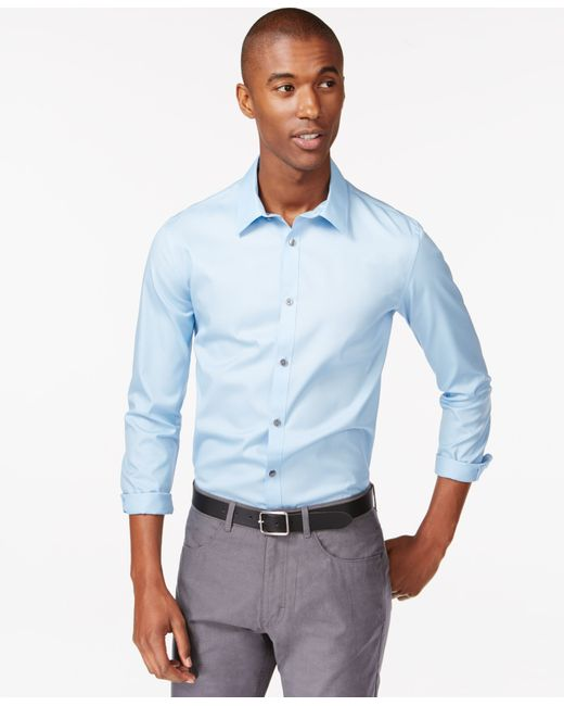 Calvin Klein | Blue Men's Infinite Cool Classic-fit Shirt for Men | Lyst
