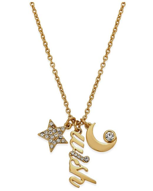 Kate Spade   Metallic 12k Gold-plated Wish Charm Pendant Necklace   Lyst