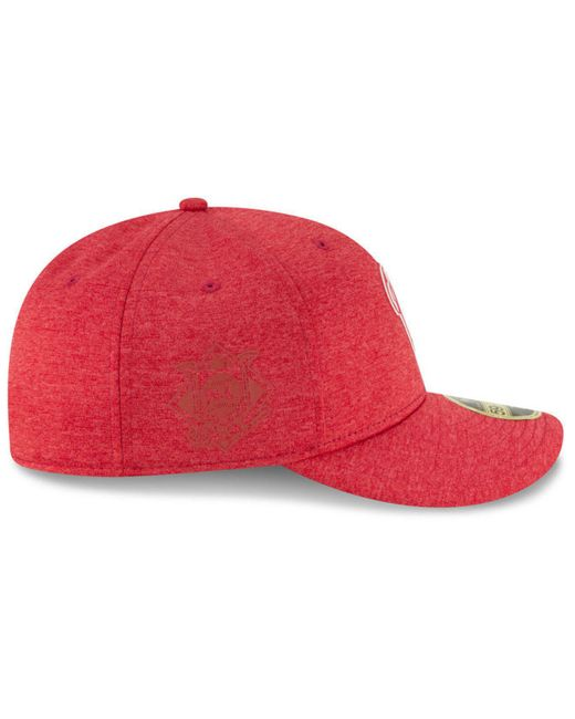 best service 59e07 a43c0 ... greece ktz red washington nationals clubhouse low crown 59fifty fitted  cap for men lyst 84f96 8b42b