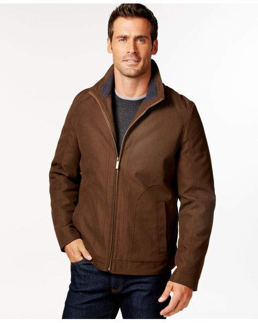 London Fog | Brown Men's Big And Tall Oxford Hipster Jacket for Men | Lyst