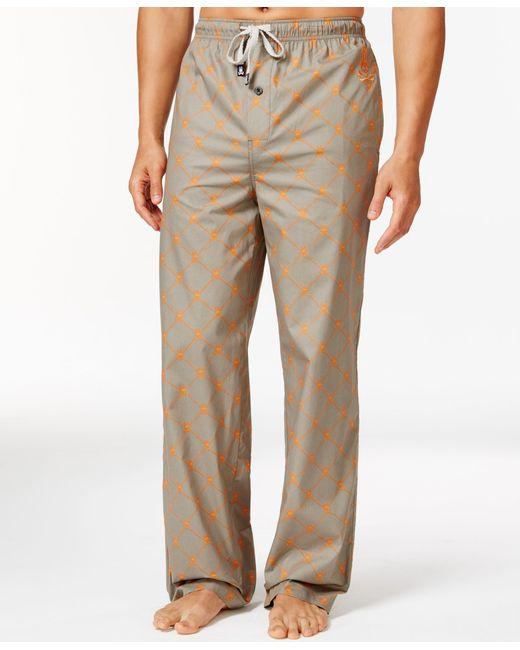 Psycho Bunny | Natural Sleepwear Woven Diagonal Dot Pajama Pants for Men | Lyst