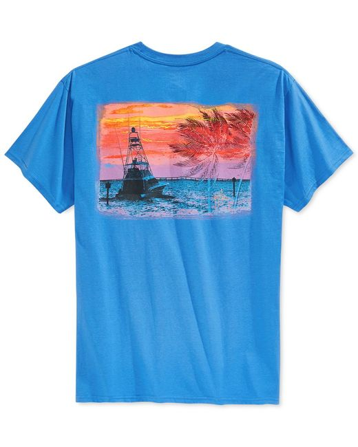 Guy Harvey Gulfstream Graphic T Shirt In Multicolor For