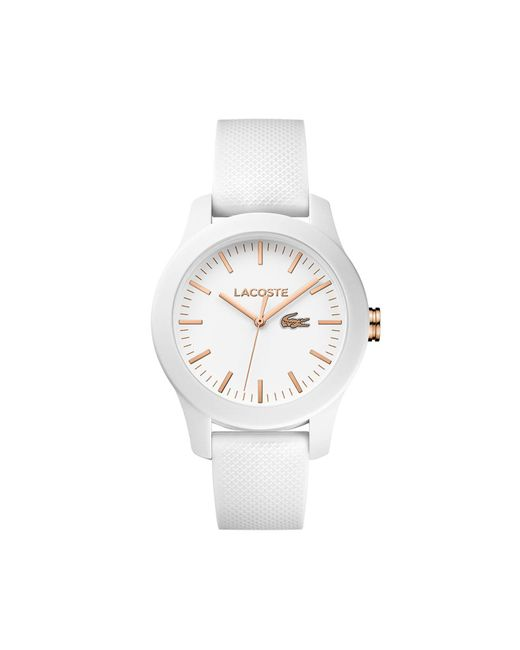 Lacoste - Women's 12.12 White Silicone Strap Watch 38mm - Lyst