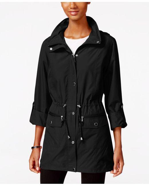 Style & Co. - Black Tunic-length Anorak Jacket - Lyst
