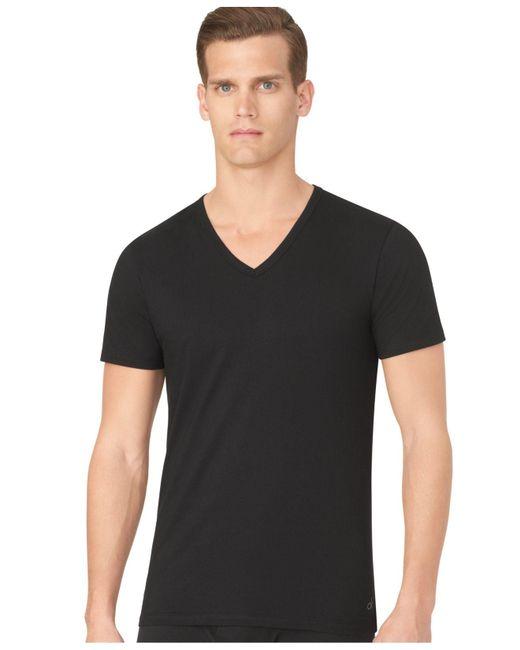 Calvin Klein | Black Men's Slim-fit V-neck T-shirt 3-pack for Men | Lyst