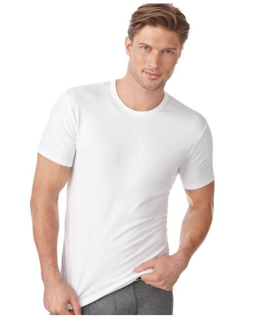 Calvin Klein | White Men's Cotton Stretch Crew-neck Undershirt 2-pack Nb1178 for Men | Lyst