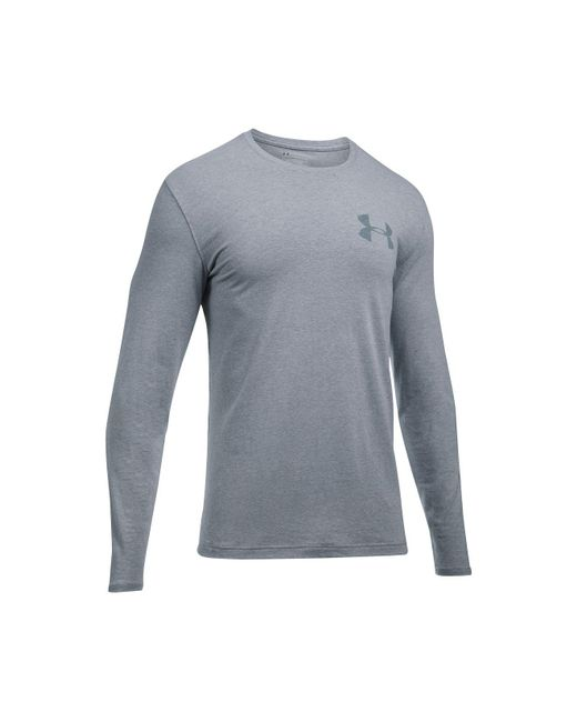 Under Armour - Gray Men's Charged Cotton® Long-sleeve T-shirt for Men - Lyst