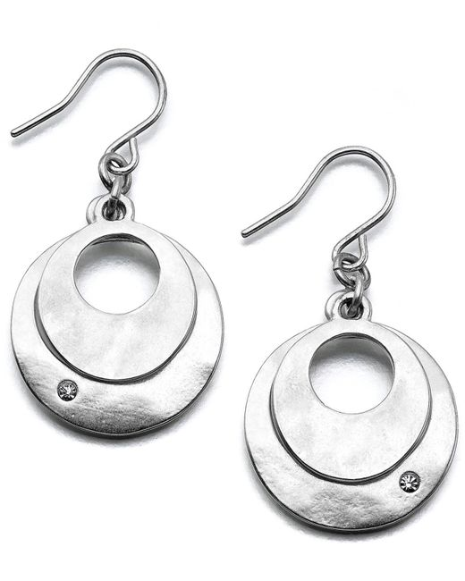 Kenneth Cole - Metallic Earrings, Dual Circle - Lyst