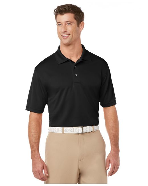 Pga Tour Men 39 S Big Tall Airflux Solid Golf Polo In Black
