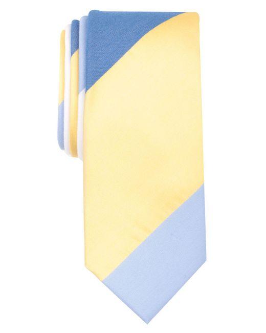 Original Penguin - Yellow Mile Stripe Skinny Tie for Men - Lyst