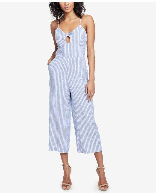 RACHEL Rachel Roy - Blue Cropped Cutout Jumpsuit, Created For Macy's - Lyst