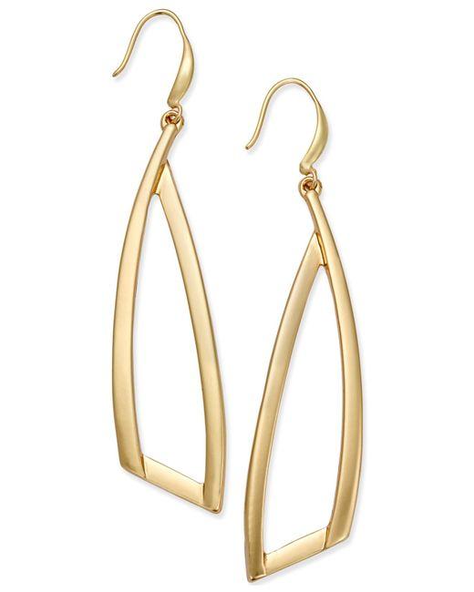 INC International Concepts | Metallic Gold-tone Triangle Drop Earrings | Lyst