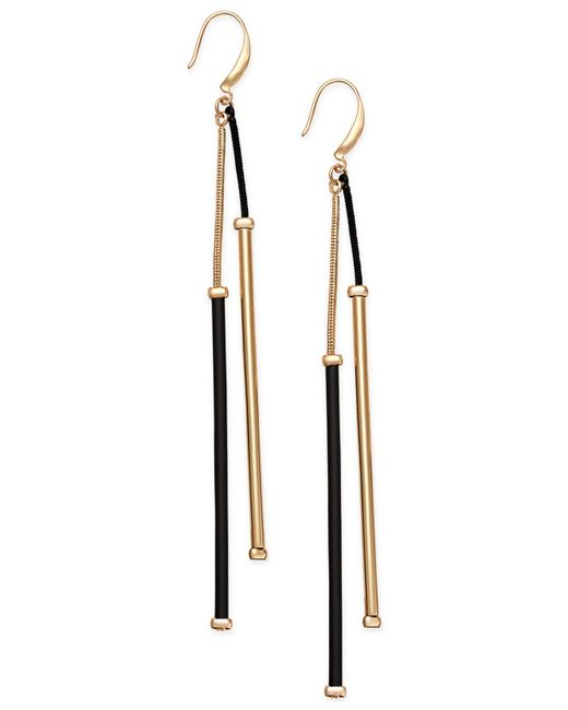INC International Concepts | Metallic Gold-tone Jet Linear Drop Earrings | Lyst