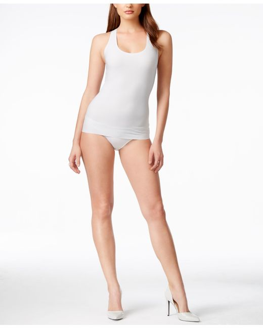 Spanx   Gray Light Control Perforated Racer Tank 10016r   Lyst