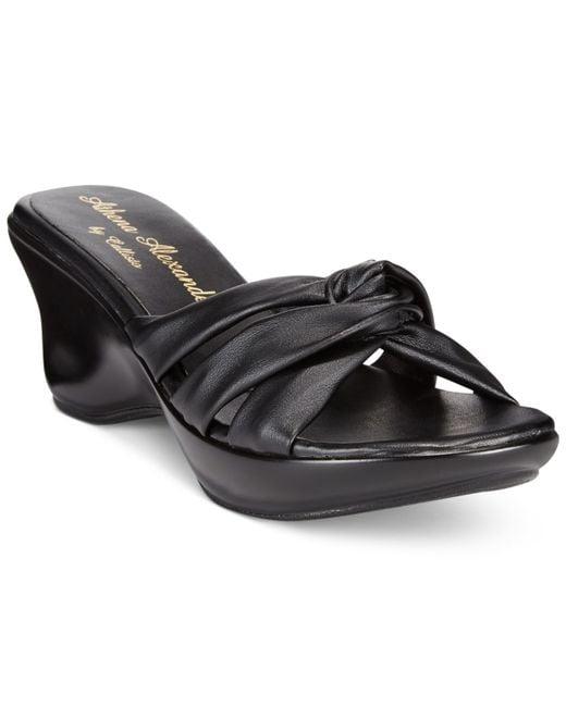 Callisto | Black Athena Alexander By Gaylenn Wedge Sandals | Lyst