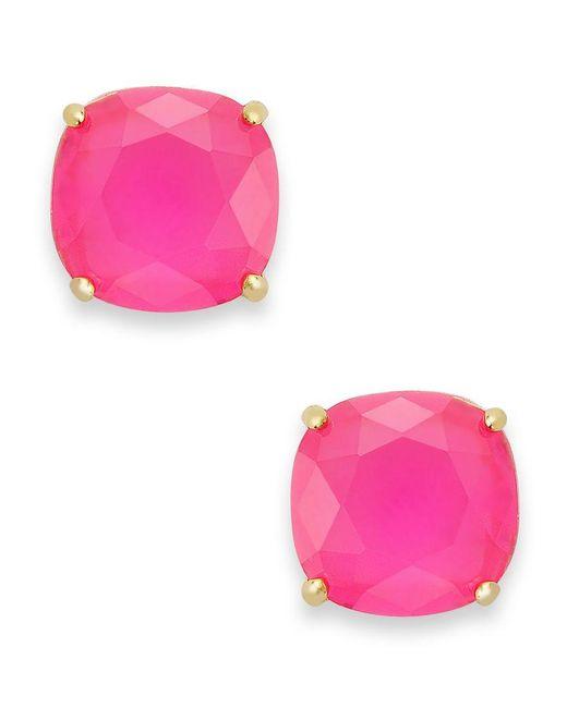kate spade new york | Pink Square Stud Earrings | Lyst