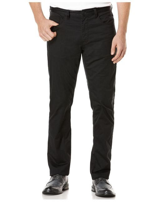 Perry Ellis   Black Men's Big And Tall Five-pocket Sateen Stretch Pants for Men   Lyst