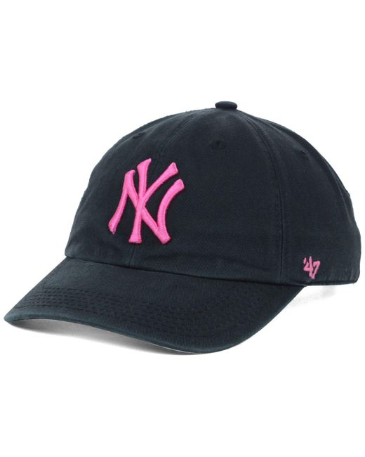 9acacbc909f23 47 Brand - Black New York Yankees Clean Up Cap for Men - Lyst ...