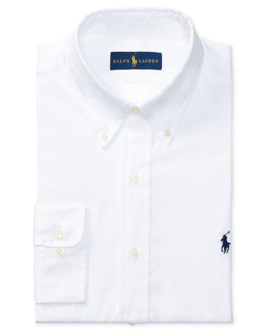 Polo Ralph Lauren - White Pinpoint Oxford Solid Dress Shirt for Men - Lyst