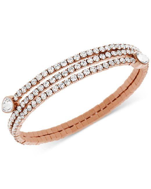 Swarovski - Pink Twisty Crystal Pear-shaped Bangle Bracelet - Lyst