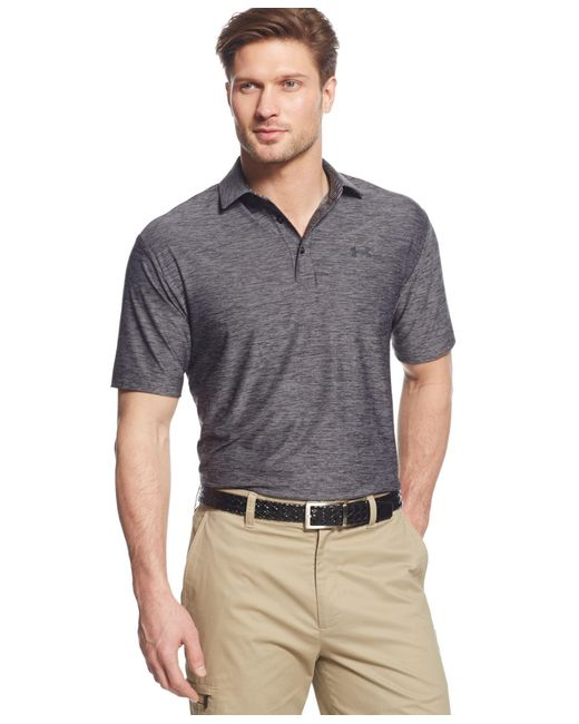 Under Armour | Gray Men's Playoff Performance Heather Golf Polo for Men | Lyst