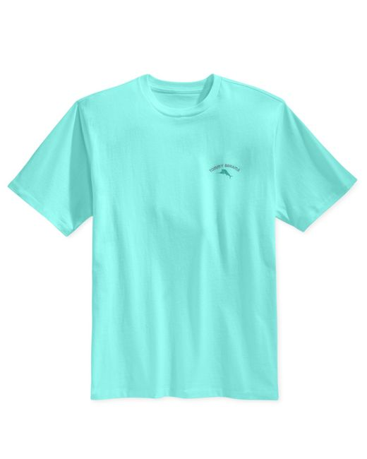 Tommy Bahama Men 39 S Offline Graphic Print T Shirt In Teal