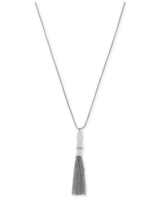 Vince Camuto | Metallic Silver-tone Long Length Tassel Pendant Necklace | Lyst