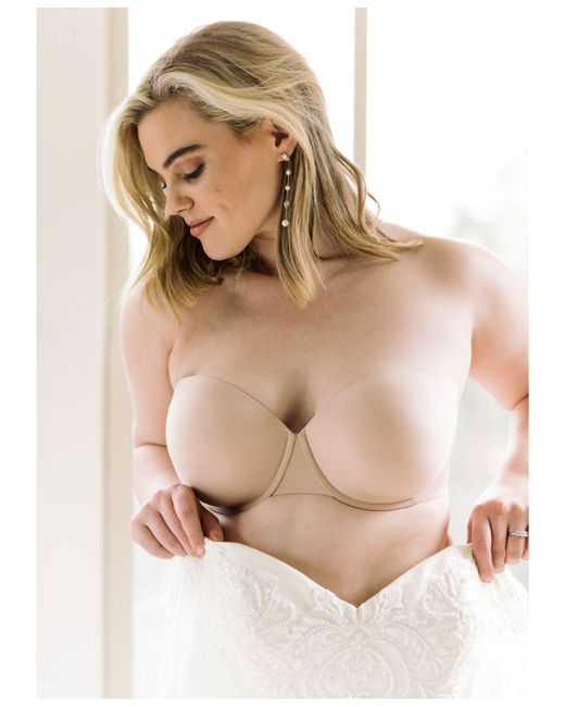 726aa109f7db5 ... Spanx - Natural Up For Anything Convertible Strapless Bra - Lyst ...