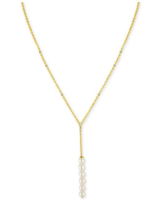 Majorica | Metallic Imitation Pearl Lariat Necklace | Lyst