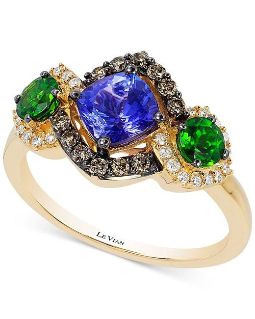 Le Vian | Metallic Chocolatier Neo Geo Multi-gemstone (1-1/2 Ct. T.w.) And Diamond (1/3 Ct. T.w.) Ring In 14k Gold, Only At Macy's | Lyst