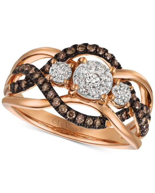 Le Vian - Metallic Diamond Ring (3/8 Ct. T.w.) In 14k Rose Gold - Lyst