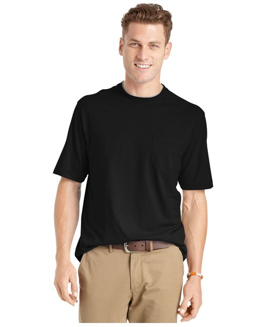 Izod men 39 s big and tall solid double layer jersey pocket t for Izod big and tall shirts