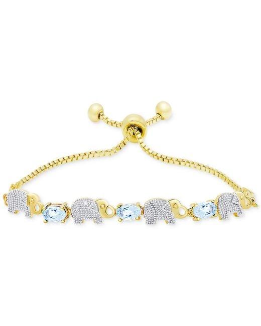 Macy's | Metallic Interlocking Chain Bracelet In 14k Gold, Made In Italy | Lyst