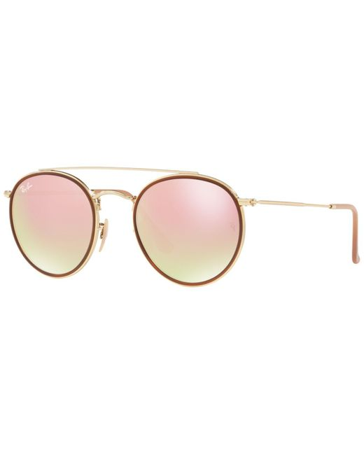 a8d32c41099 Ray-Ban - Pink 3647n Round Sunglasses - Lyst ...