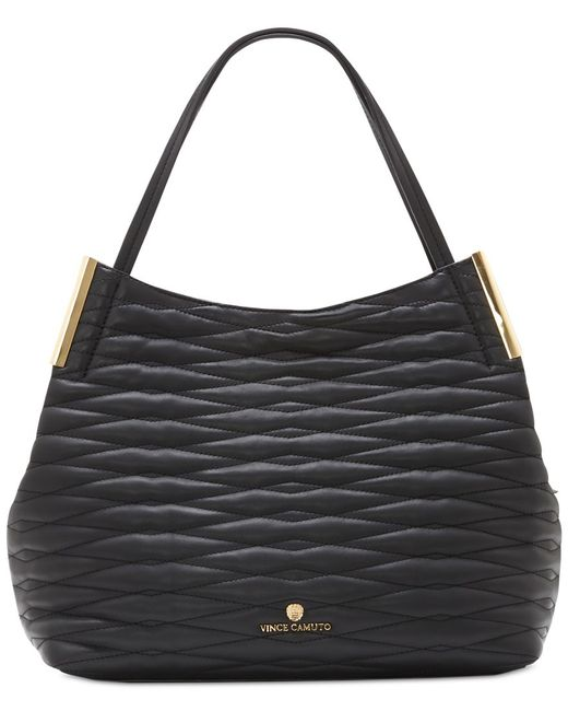Vince Camuto | Black Quilted Tina Tote | Lyst