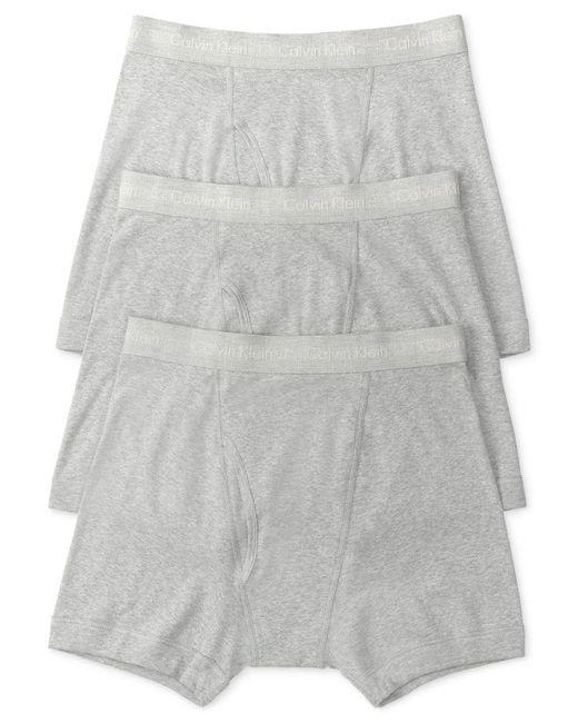 Calvin Klein | Gray Men's Classic Boxer Briefs 3-pack Nu3019 for Men | Lyst