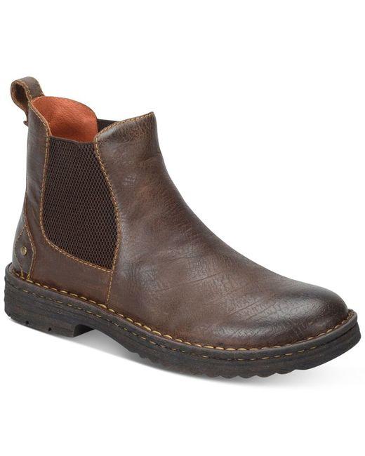 born s porto plain toe boots in brown for lyst